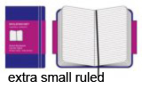 Moleskine Extra Small Ruled Notebook Extra Small Purple