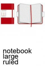 Moleskine Classic Red Large Ruled Notebook
