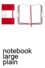 Moleskine Classic Red Large Plain Notebook