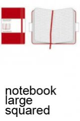 Moleskine. Squared Notebook Red